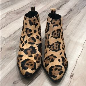 ASOS Design Leather Chelsea Boots in Leopard Print